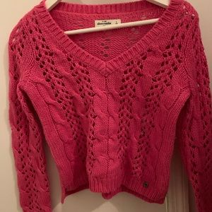 Pink Abercrombie knitted sweater